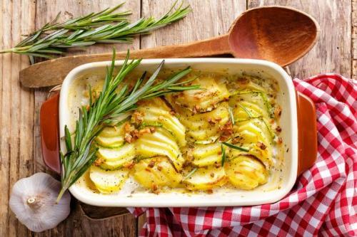 Rosmarin Kartoffel Gratin