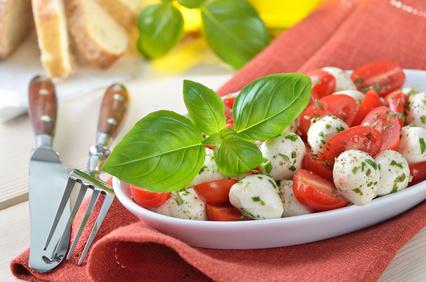 Tomatensalat mit Mozarella