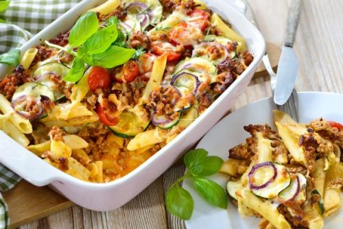 Zucchini Pasta Auflauf