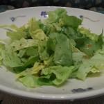Platz 1 grüner Salat mit Zucker angemacht